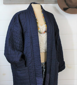 Quilted Duster Jacket