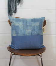 Load image into Gallery viewer, Indigo Quilt + Denim Pillow