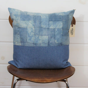 Indigo Quilt + Denim Pillow