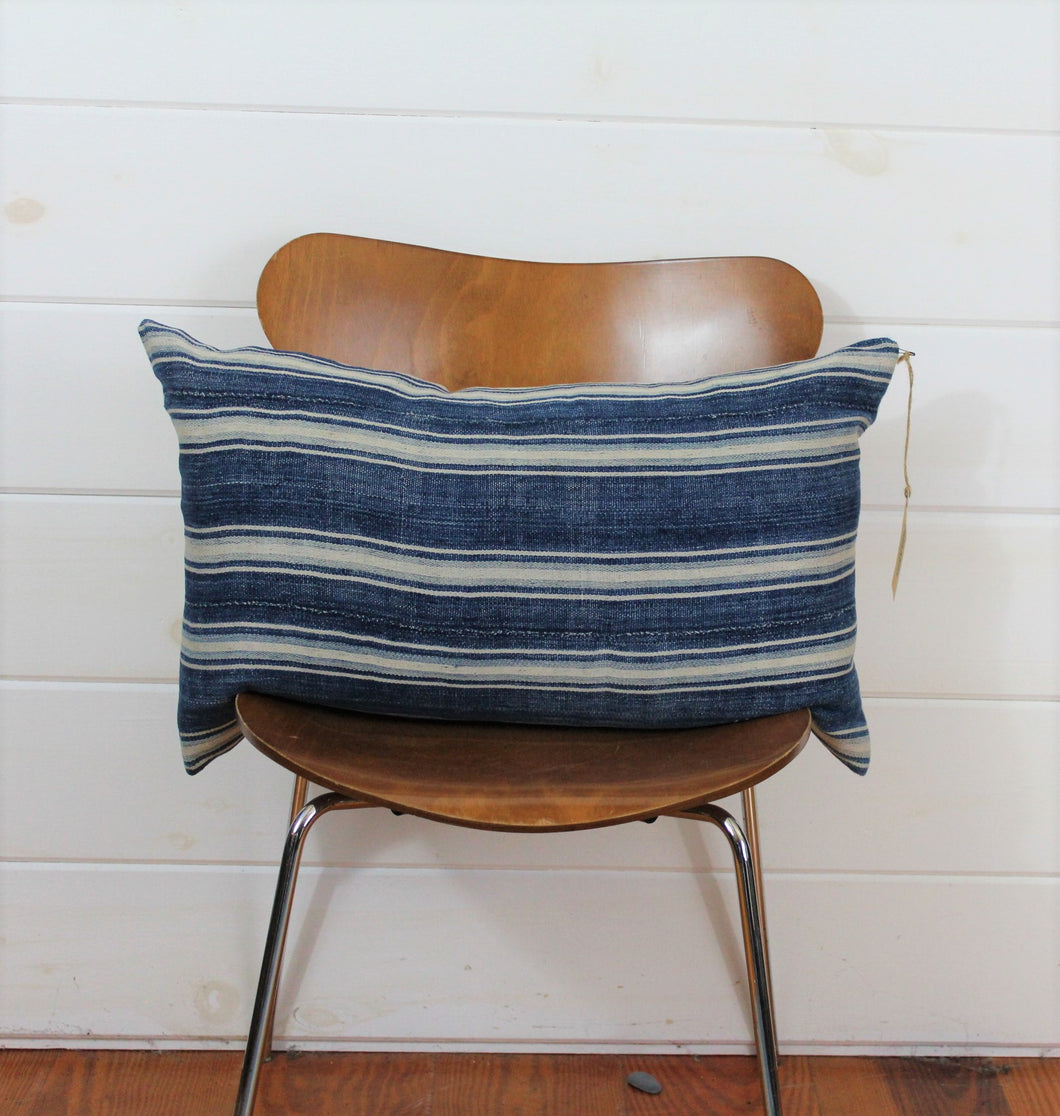 Indigo Stripe Lounge Pillow