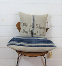 Load image into Gallery viewer, Indigo Stripe Lounge Pillow