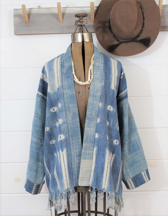 Light Indigo Shibori Jacket