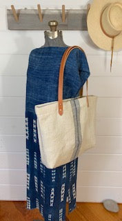 Stripe Grain Sack Tote