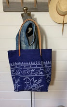 Load image into Gallery viewer, Indigo Chinese Batik Tote