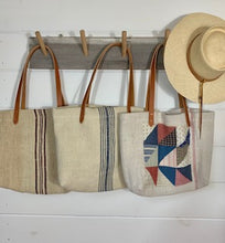 Load image into Gallery viewer, Stripe Grain Sack Tote