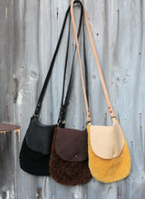 Load image into Gallery viewer, Shearling Leather Crossbody Bags