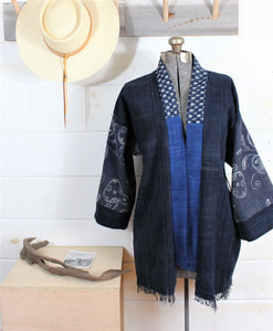 Indigo Batik Jacket ( Sold Out )