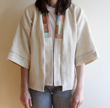 Load image into Gallery viewer, Natural Mud Cloth Quilt Back Jacket