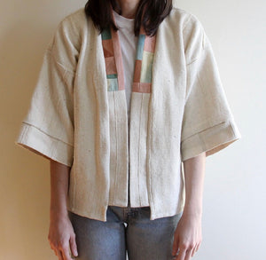 Natural Mud Cloth Quilt Back Jacket (Sold Out)