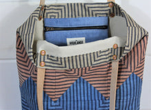 Load image into Gallery viewer, Natural Dyed Ticking Tote