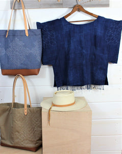 Sashiko Stitch Indigo Top (SOLD)