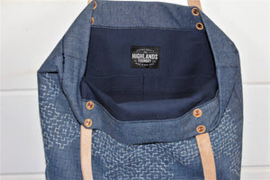Denim Sashiko Stitch Tote