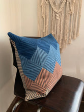 Load image into Gallery viewer, Natural Dyed Ticking Pillow