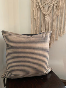 Natural Dyed Ticking Pillow