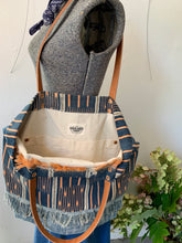 Load image into Gallery viewer, Indigo Ikat Tote