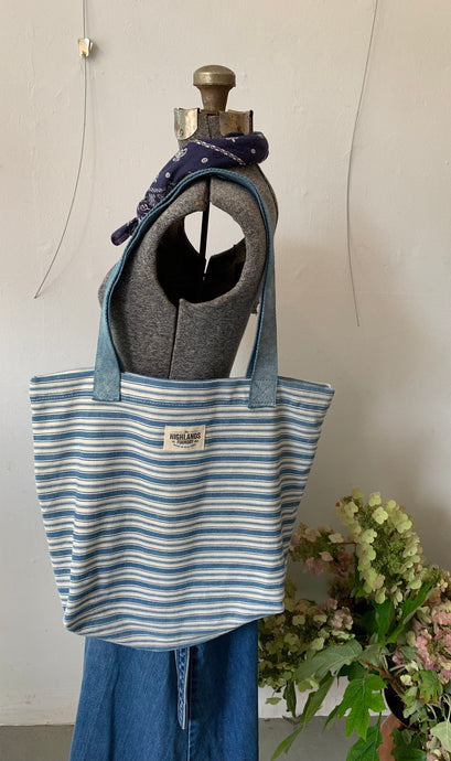 Ticking Stripe Market Bag