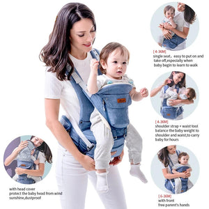 Orthopedic Hipseat Baby Carrier (6 in 1)