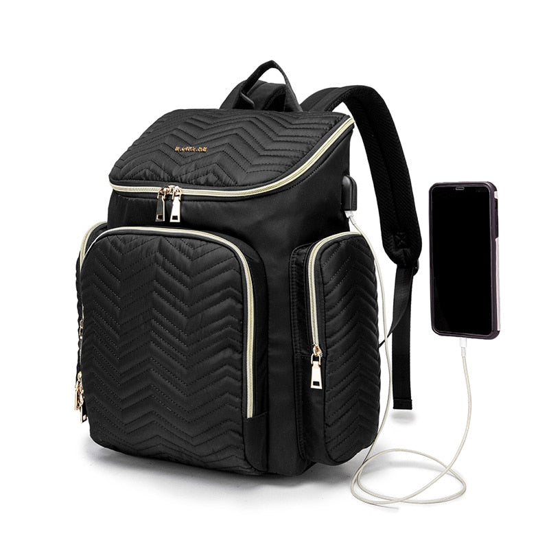 Imperial USB Diaper Backpack Bag