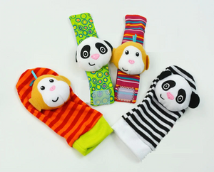 Wrist Rattle and Foot Finder Socks Developmental Toy