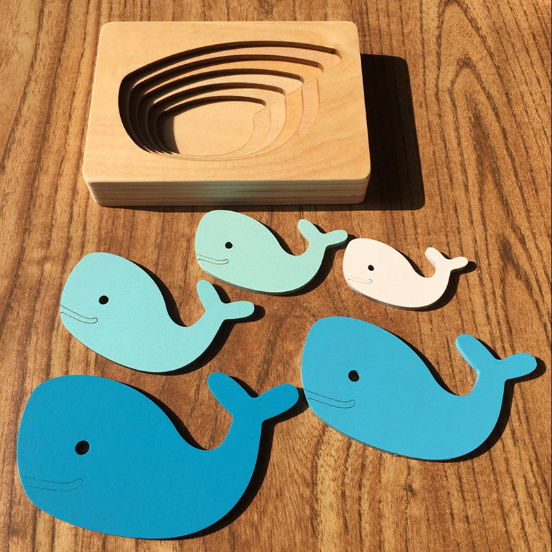 Wooden Animal Puzzle - Bebe Luv