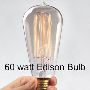 SCONCE - portable plug in wall light! | Walnut & Gold accent light with dimmer and Edison bulb