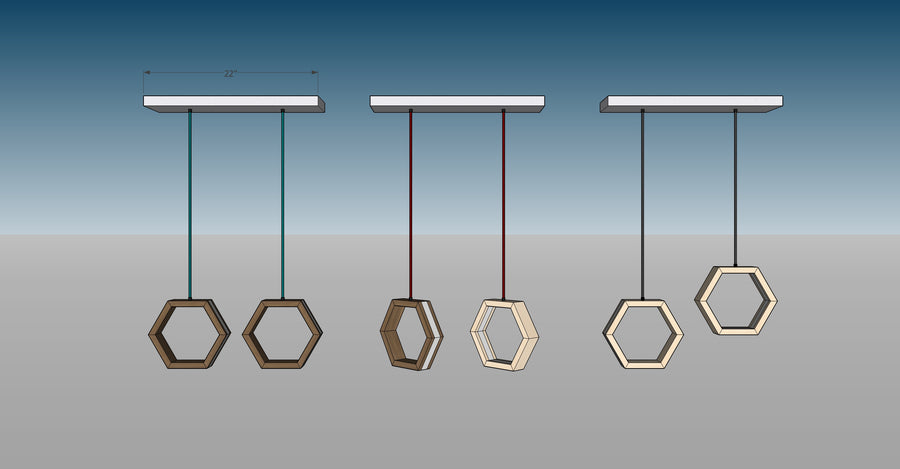 HEXAGON - customizable LED Pendant Lights