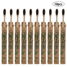 Load image into Gallery viewer, GIFTSKING 10pcs/Set Natural Pure Bamboo Toothbrush