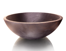 Round Ebonized Oak Bowl