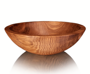Round Natural Oak Bowl