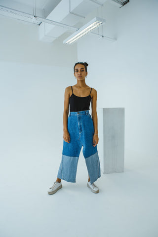 DECONSTRUCTED DENIM SKIRT - NOWNOW