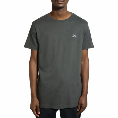SA Lines Embroidery Charcoal T-shirt - NOWNOW