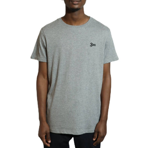 SA Lines Embroidery Grey T-shirt - NOWNOW