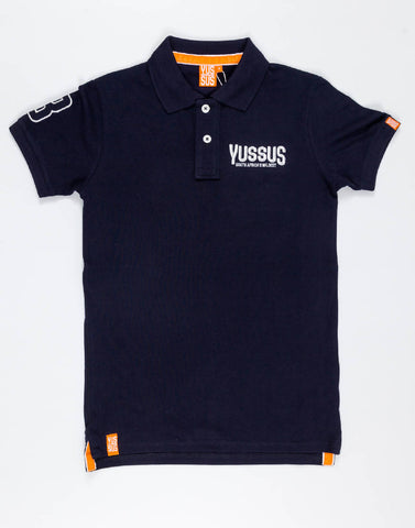 YUSSUS SAW 3 + 8 – NOCTURNAL NAVY, MENS POLO SHIRT - NOWNOW