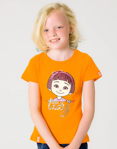 LITTLE LADY – OUTRAGEOUS ORANGE, GIRLS TSHIRT - NOWNOW