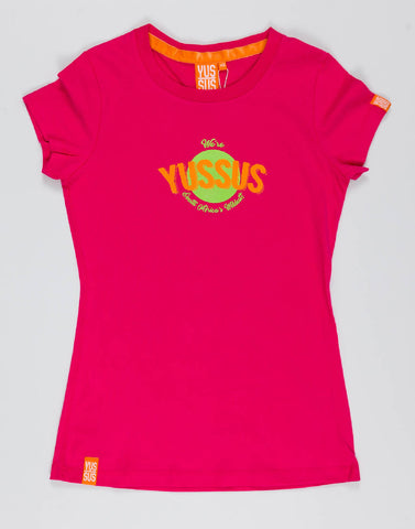 YUSSUS CIRCLE – PLAYFUL PINK, LADIES TSHIRT - NOWNOW
