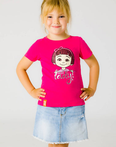 LITTLE LADY – PLAYFUL PINK, GIRLS TSHIRT - NOWNOW