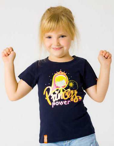 PRINCESS POWER – NOCTURNAL NAVY, GIRLS TSHIRT - NOWNOW
