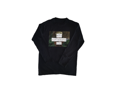 Black Dattebayo Long Sleeve Shirt by Red Thread Apparel