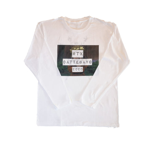 White Dattebayo Long Sleeve Shirt by Red Thread Apparel