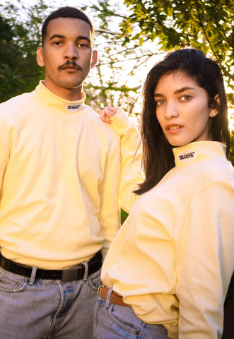 BRAhSSE Polo Neck in Lemon - NOWNOW