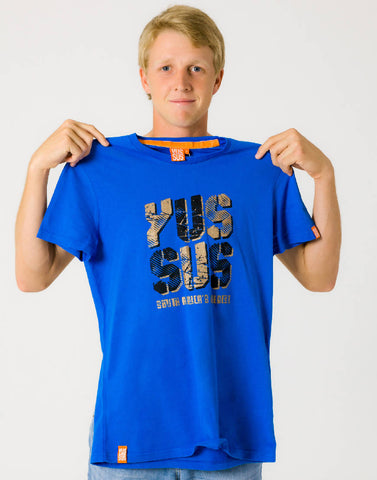 YUSSUS SUMMER – RADICAL ROYAL, MENS TSHIRT - NOWNOW