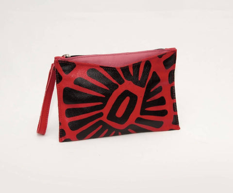 The Pippa Clutch in Red - NOWNOW