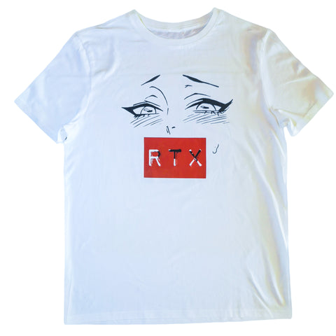 RTX Ahegao in White T-Shirt by Red Thread Apparel