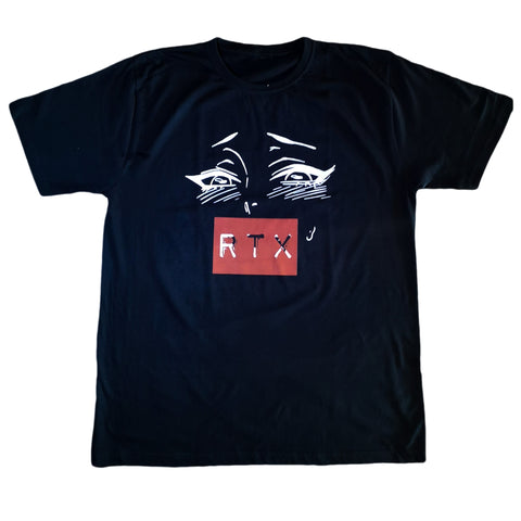 RTX Ahegao in Black T-Shirt by Red Thread Apparel