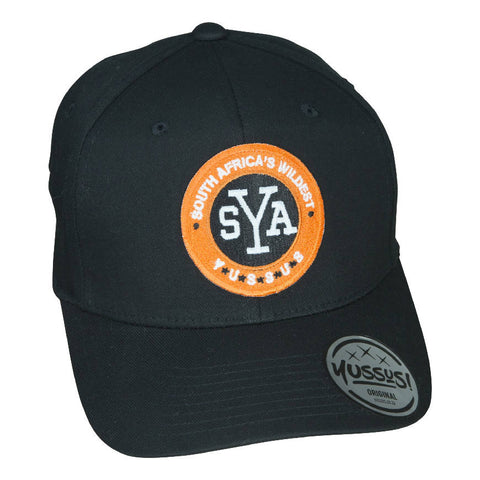 YUSSUS -BLACK, X-SHAPE CAP, SYA BADGE - NOWNOW