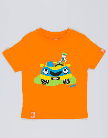CAR – OUTRAGEOUS ORANGE, BOYS TSHIRT - NOWNOW