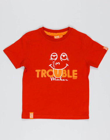 TROUBLE MAKER – RAGING RED, BOYS TSHIRT - NOWNOW