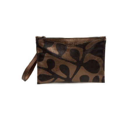 The Pippa Clutch in Bronze - NOWNOW