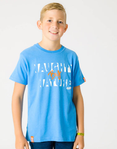 NAUGHTY BY NATURE – BOOST BLUE, BOYS TSHIRT - NOWNOW