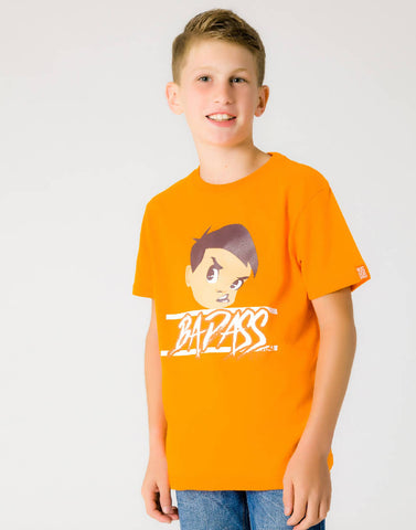 BAD ASS – OUTRAGEOUS ORANGE, BOYS TSHIRT - NOWNOW